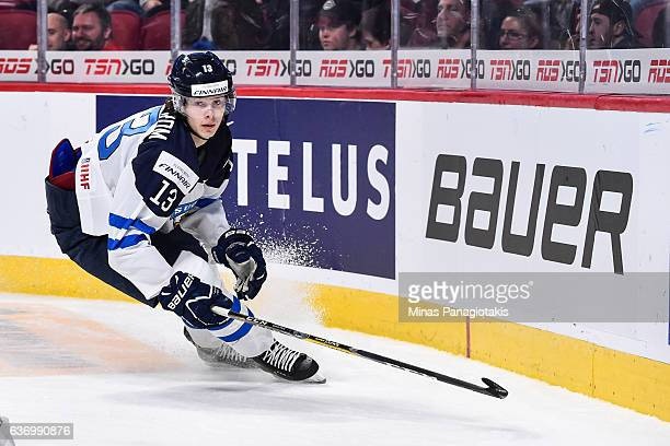 Henrik Borgstrom of Team Finland skates during the IIHF World Junior Championship preliminary round game against Team Denmark at the Bell Centre on...