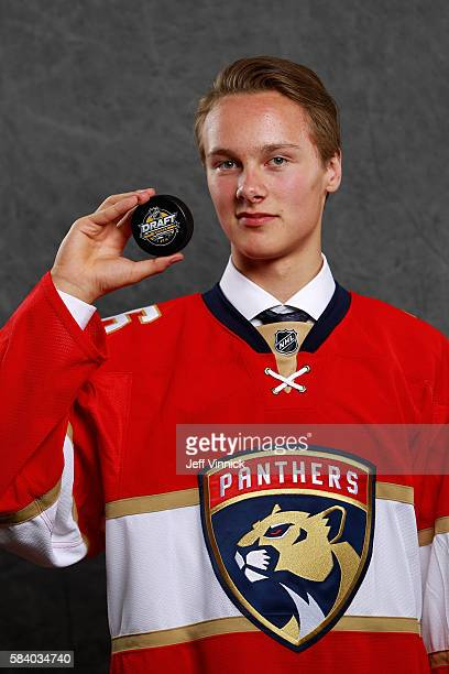 Henrik Borgstrom selected 23rd overall by the Florida Panthers poses for a portrait during round one of the 2016 NHL Draft at First Niagara Center on...