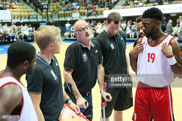 Henrik Dettmann headcoach of Strasbourg during the Final match between Strasbourg and Gravelines Dunkerque at Tournament ProStars at Salle Arena...