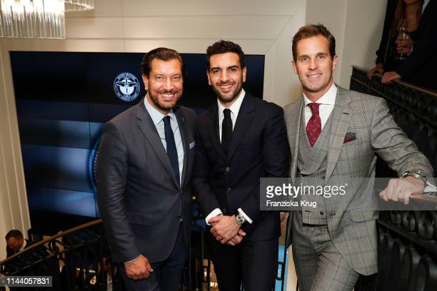 Henrik Ekdahl Managing Director Richemont Northern Europe Elyas M'Barek and IWC CEO Christoph GraingerHerr attend the IWC Schaffhausen Pilots Watches...