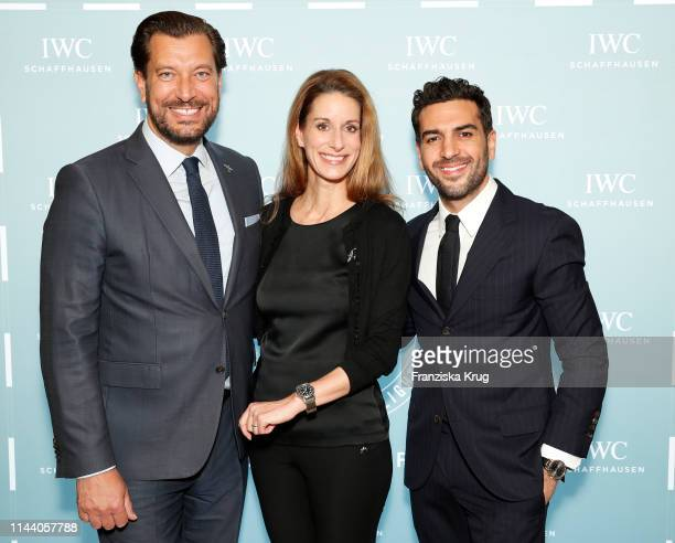 Henrik Ekdahl Managing Director Richemont Northern Europe Franziska GsellEtterlin IWC Chief Marketing Officer and Elyas M'Barek attend the IWC...