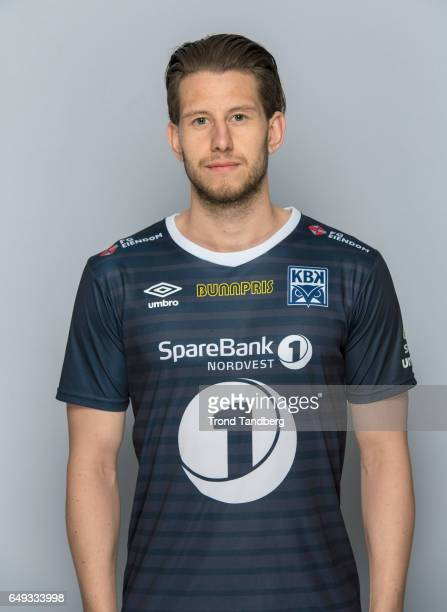 Henrik Gjesdal of Team Kristiansund BK on March 7 2017 in Kristiansund Norway