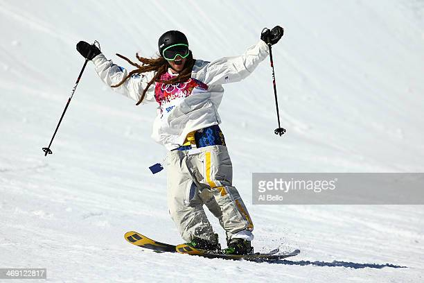 Henrik Harlaut of Sweden competes in the Freestyle Skiing Men's Ski Slopestyle Finals during day six of the Sochi 2014 Winter Olympics at Rosa Khutor...