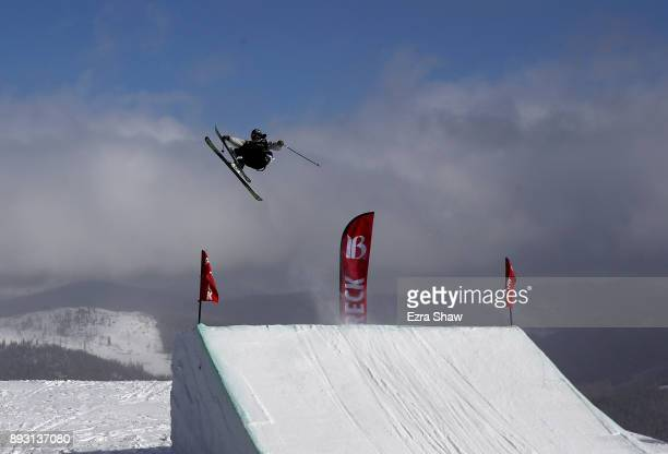 Henrik Harlaut of Sweden competes in the Men's Ski Slopestyle qualifier during Day 2 of the Dew Tour on December 14 2017 in Breckenridge Colorado