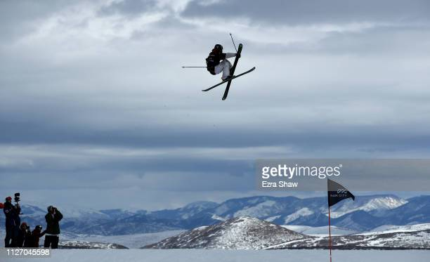 Henrik Harlaut of Sweden warms up before the qualification round of the Men's Ski Big Air at the FIS Freeski World Championships on February 02, 2019...