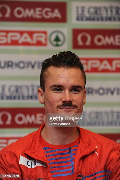 Henrik Ingebrigtsen of Norway talks to the media during a press conference for the 19th SPAR European Cross Country Championships at the Ramada...