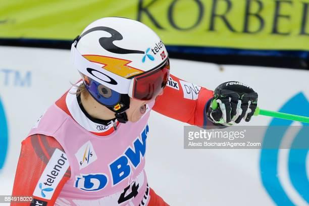 Henrik Kristoffersen of Norway celebrates during the Audi FIS Alpine Ski World Cup Men's Giant Slalom on December 3 2017 in Beaver Creek Colorado