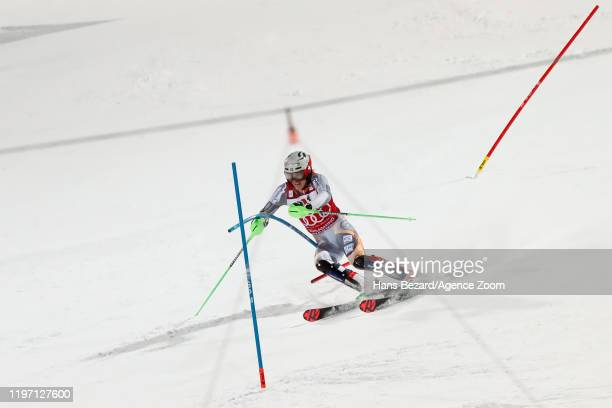 Henrik Kristoffersen of Norway competes during the Audi FIS Alpine Ski World Cup Men's Slalom on January 28 2020 in Schladming Austria