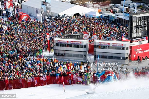 Henrik Kristoffersen of Norway competes during the Audi FIS Alpine Ski World Cup Men's Slalom on December 11 2016 in Vald'Isere France
