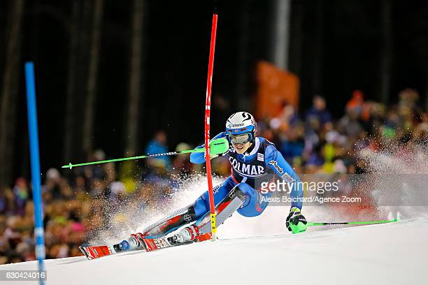 Henrik Kristoffersen of Norway competes during the Audi FIS Alpine Ski World Cup Men's Slalom on December 22 2016 in Madonna di Campiglio Italy