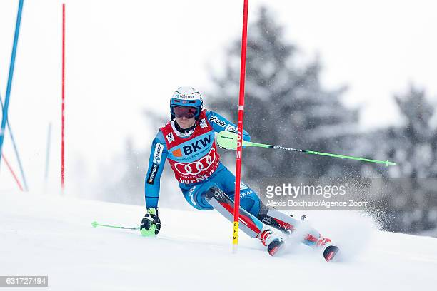 Henrik Kristoffersen of Norway competes during the Audi FIS Alpine Ski World Cup Men's Slalom on January 15 2017 in Wengen Switzerland