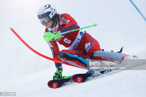 Henrik Kristoffersen of Norway competes during the Audi FIS Alpine Ski World Cup Men's Slalom on November 12 2017 in Levi Finland