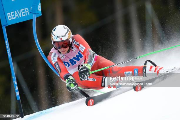 Henrik Kristoffersen of Norway competes during the Audi FIS Alpine Ski World Cup Men's Giant Slalom on December 3 2017 in Beaver Creek Colorado