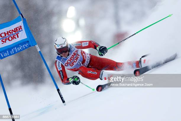 Henrik Kristoffersen of Norway competes during the Audi FIS Alpine Ski World Cup Men's Giant Slalom on December 9 2017 in Vald'Isere France