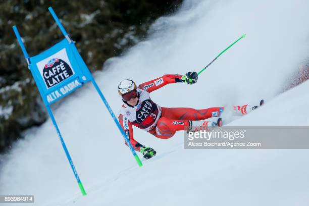 Henrik Kristoffersen of Norway competes during the Audi FIS Alpine Ski World Cup Men's Giant Slalom on December 17 2017 in Alta Badia Italy