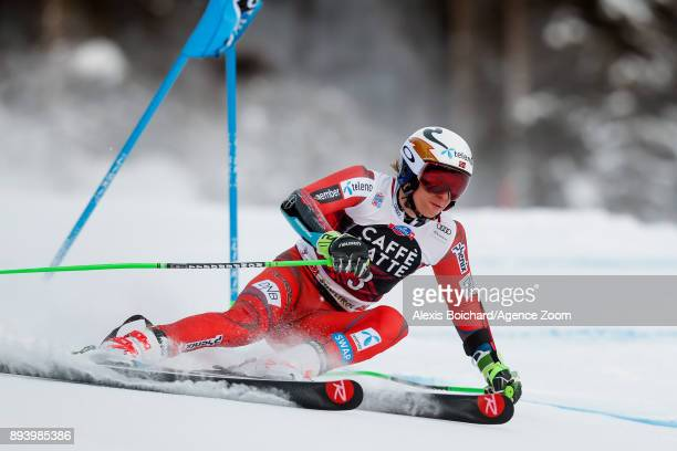 Henrik Kristoffersen of Norway competes during the Audi FIS Alpine Ski World Cup Men's Giant Slalom on December 17 2017 in Alta Badia Italy