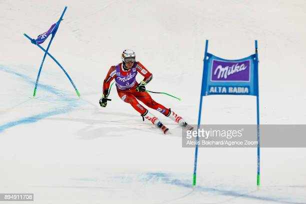 Henrik Kristoffersen of Norway competes during the Audi FIS Alpine Ski World Cup Men's Parallel Giant Slalom on December 18 2017 in Alta Badia Italy