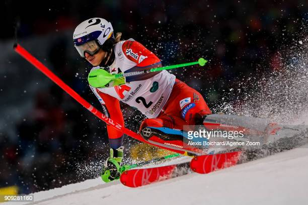 Henrik Kristoffersen of Norway competes during the Audi FIS Alpine Ski World Cup Men's Slalom on January 23 2018 in Schladming Austria
