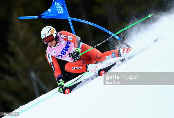 Henrik Kristoffersen of Norway competes in the first run of the Birds of Prey World Cup Giant Slalom race on December 3 2017 in Beaver Creek Colorado...
