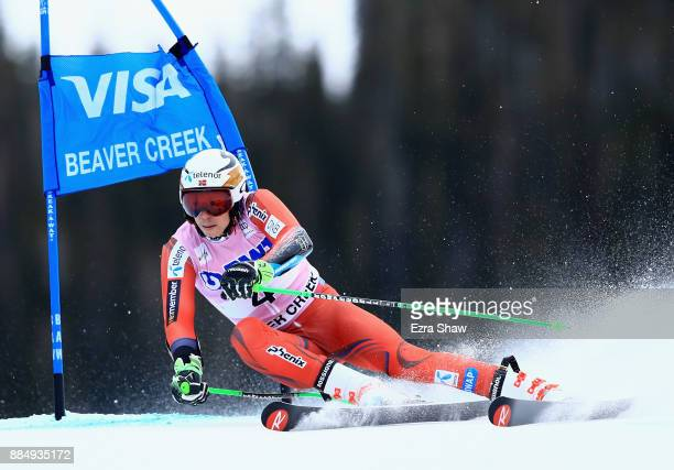 Henrik Kristoffersen of Norway competes in the second run of the Birds of Prey World Cup Giant Slalom race on December 3 2017 in Beaver Creek...