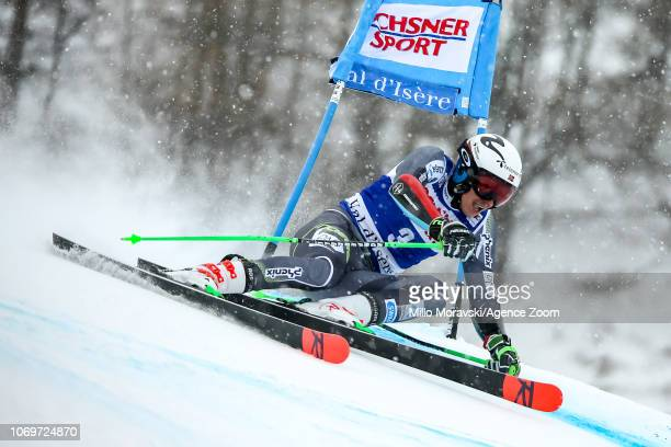Henrik Kristoffersen of Norway during the Audi FIS Alpine Ski World Cup Men's Giant Slalom on December 8 2018 in Val d'Isère France