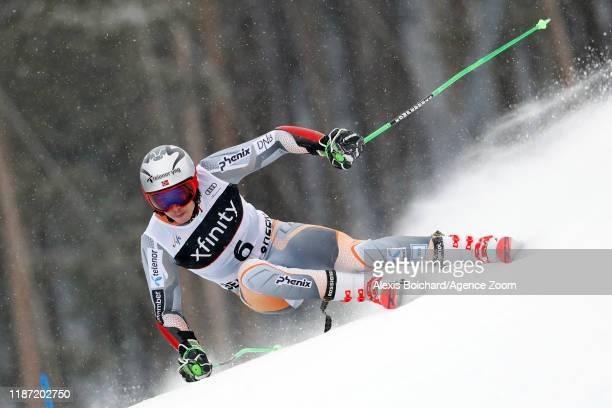Henrik Kristoffersen of Norway in action during the Audi FIS Alpine Ski World Cup Men's Giant Slalom on December 8 2019 in Beaver Creek USA