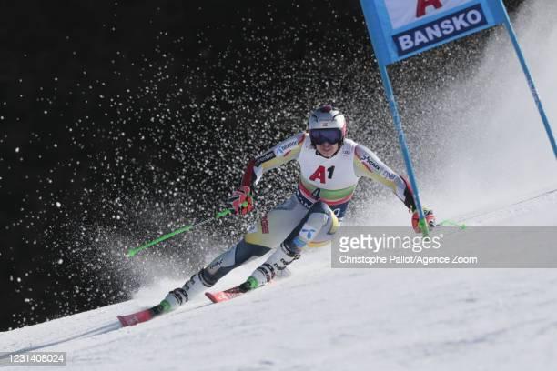 Henrik Kristoffersen of Norway in action during the Audi FIS Alpine Ski World Cup Men's Giant Slalom on February 27, 2021 in Bansko Bulgaria.
