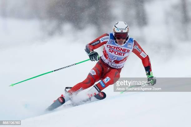 Henrik Kristoffersen of Norway in action during the Audi FIS Alpine Ski World Cup Men's Giant Slalom on December 9 2017 in Vald'Isere France