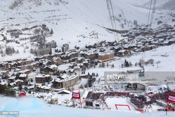 Henrik Kristoffersen of Norway in action during the Audi FIS Alpine Ski World Cup Men's Giant Slalom on December 9 2017 in Vald'Isere France