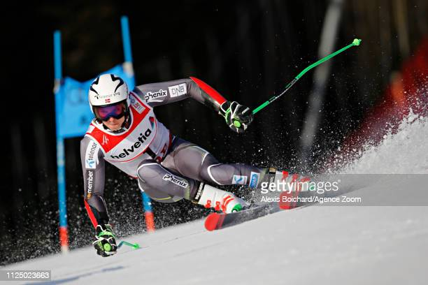 Henrik Kristoffersen of Norway in action during the FIS World Ski Championships Men's Giant Slalom on February 15 2019 in Are Sweden