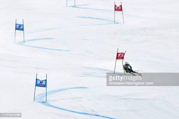 Henrik Kristoffersen of Norway takes 1st place during the Audi FIS Alpine Ski World Cup Men's Giant Slalom on February 24, 2019 in Bansko Bulgaria.