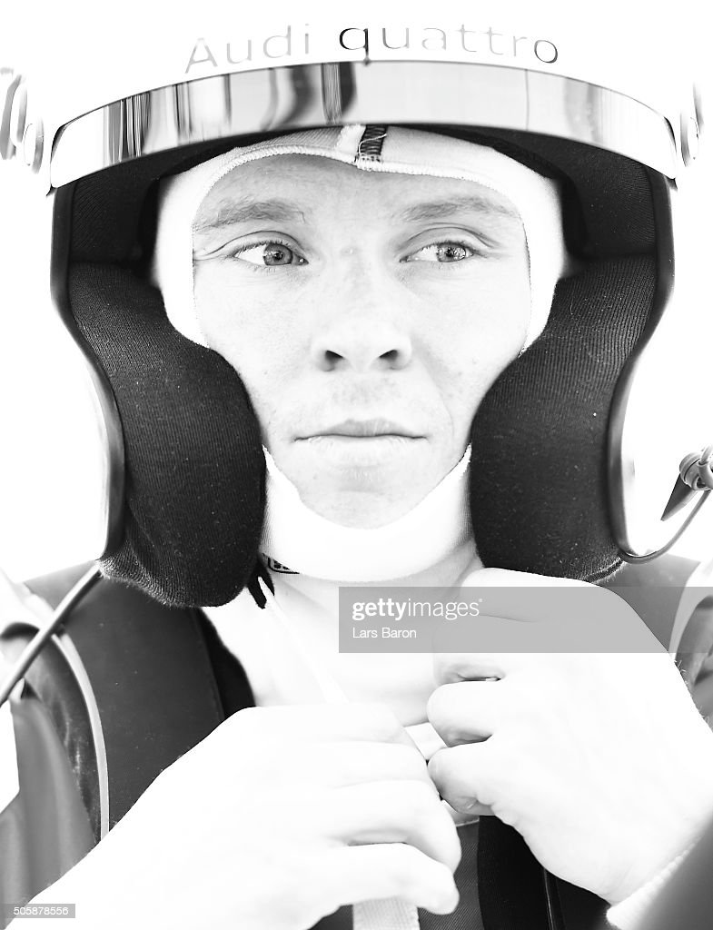 Henrik Kristoffersen prepares for the race during the final day of the Audi Quattro #SuperQ on January 20, 2016 in Kitzbuehel, Austria.