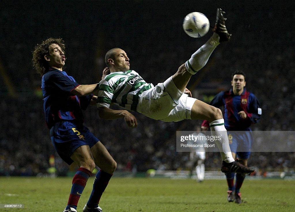 Celtic v Barcelona - UEFA Cup 4th Round 1st Leg : News Photo