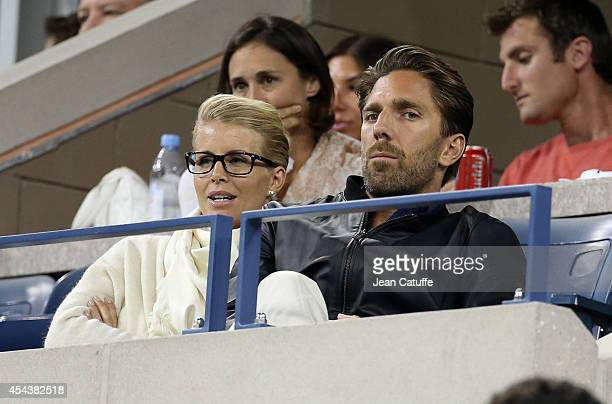 Henrik Lundqvist and his wife Therese Andersson attend Day 5 of the 2014 US Open at USTA Billie Jean King National Tennis Center on August 29 2014 in...