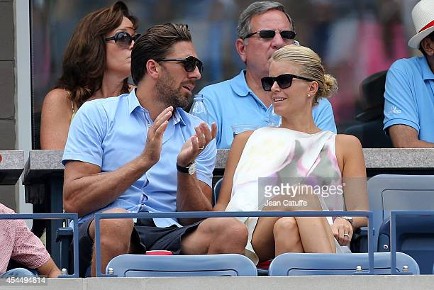 Henrik Lundqvist and his wife Therese Andersson attend Day 8 of the 2014 US Open at USTA Billie Jean King National Tennis Center on September 1 2014...