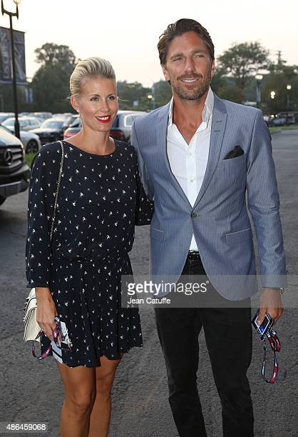 Henrik Lundqvist and his wife Therese Lundqvist attend day four of the 2015 US Open at USTA Billie Jean King National Tennis Center on September 3...