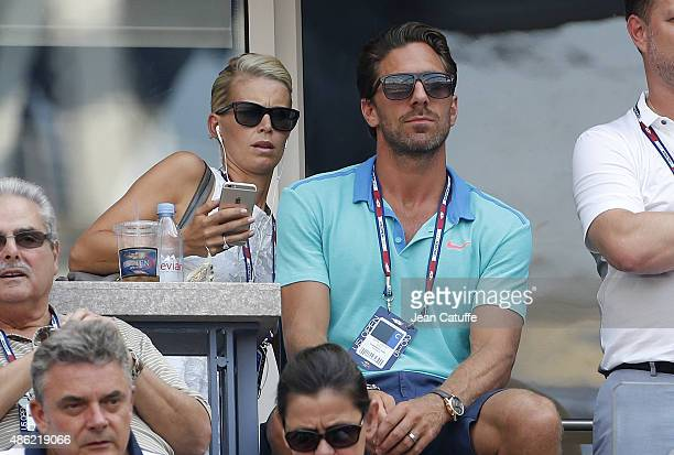 Henrik Lundqvist and his wife Therese Lundqvist attend day two of the 2015 US Open at USTA Billie Jean King National Tennis Center on September 1...