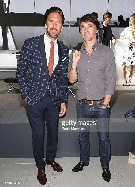 Henrik Lundqvist and Olivier Martinez attend House of Gant Presentation during Spring 2016 New York Fashion Week on September 10 2015 in New York City