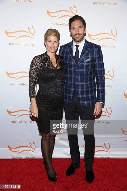 Henrik Lundqvist and Therese Andersson attend 2014 A Funny Thing Happened On The Way To Cure Parkinson's event at The Waldorf=Astoria on November 22...