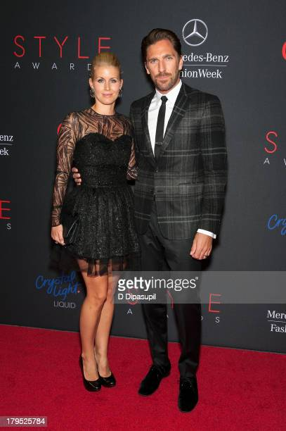 Henrik Lundqvist and wife Therese Lundqvist attend the 2013 Style Awards at Lincoln Center on September 4 2013 in New York City