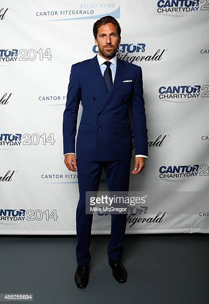 Henrik Lundqvist attends Annual Charity Day Hosted By Cantor Fitzgerald And BGC at Cantor Fitzgerald on September 11 2014 in New York City