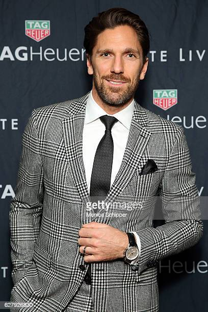 Henrik Lundqvist attends the Haute Living Celebrates New York Cover Launch with Henrik Lundqvist and TAG Heuer at Mr Chow on December 5 2016 in New...