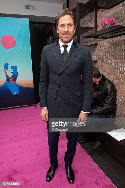 Henrik Lundqvist attends the Stephen F fashion show during New York Fashion Week Men's Fall/Winter 2016 on February 1 2016 in New York City