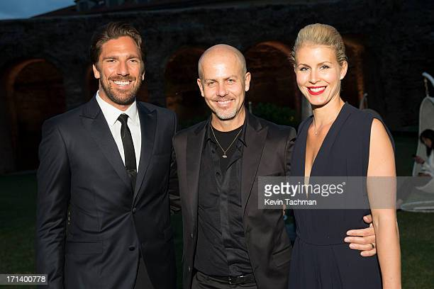 Henrik Lundqvist designer Italo Zucchelli and Therese Andersson attend the dinner to celebrate Italo Zucchelli's ten years as Calvin Klein...