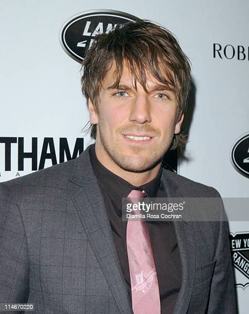 Henrik Lundqvist during New York Rangers Host Gotham Magazines Issue Release Party at The Hiro Ballroom in New York City New York United States
