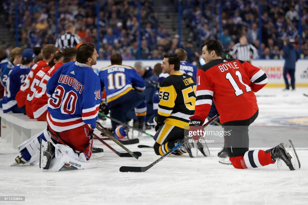 2018 GEICO NHL All-Star Skills Competition - Accuracy Shooting : News Photo