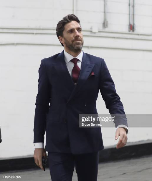 Henrik Lundqvist of the New York Rangers arrives for the game against the Montreal Canadiens at Madison Square Garden on December 06, 2019 in New...