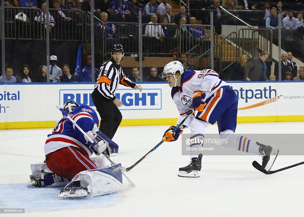 Edmonton Oilers v New York Rangers : News Photo