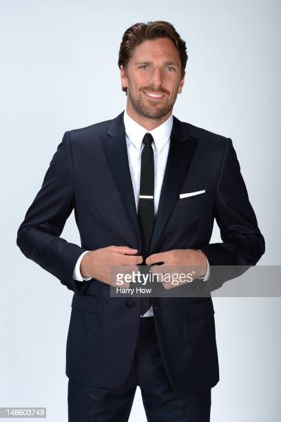Henrik Lundqvist of the New York Rangers poses for a portrait during the 2012 NHL Awards at the Encore Theater at the Wynn Las Vegas on June 20 2012...