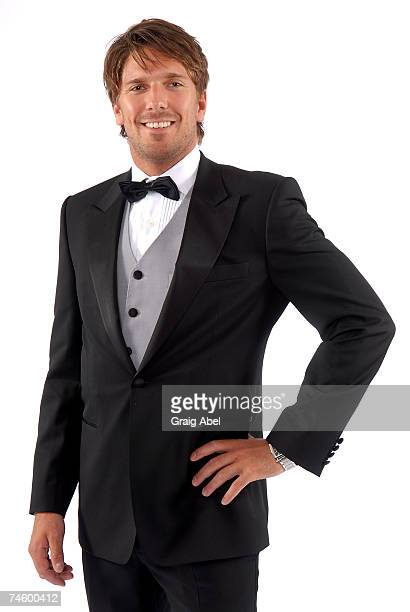 Henrik Lundqvist of the New York Rangers poses for a portrait backstage during the 2007 NHL Awards at the Elgin Theatre on June 14, 2007 in Toronto,...